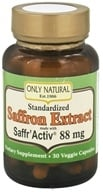 Only Natural - Standardized Saffron Extract with Saffr'Activ 88.5 mg. - 30 Vegetarian Capsules - $14.99