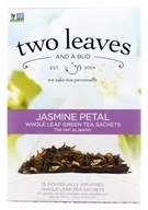 Two Leaves Tea Company - Green Tea Jasmine Petal - 15 Tea Bags Formerly Two Leaves and a Bud by Two Leaves Tea Company