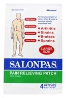 Salonpas - Pain Relieving Patch Large Size 5.12 in. x 3.31 in. - 4 Patch(es), from category: Personal Care