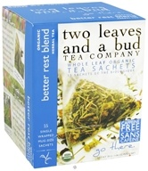 Two Leaves Tea Company - Herbal Tea Organic Better Rest Blend - 15 Tea Bags Formerly Two Leaves and a Bud