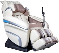 Osaki - Executive Zero Gravity S-Track Heating Massage Chair OS-7200HC Cream by Osaki
