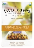 Two Leaves Tea Company - Herbal Tea Organic Chamomile - 15 Tea Bags Formerly Two Leaves and a Bud - $5.69