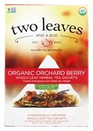 Two Leaves Tea Company - Herbal Tea Organic Pomi-Berry - 15 Tea Bags Formerly Two Leaves and a Bud