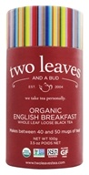 Two Leaves Tea Company - Black Tea Organic English Breakfast Tea - 3.5 oz. Formerly Two Leaves and a Bud (894058000279)