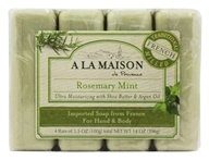 A La Maison - Traditional French Milled Bar Soap Value Pack Rosemary Mint - 4 x 3.5 oz. Bars - $4.19