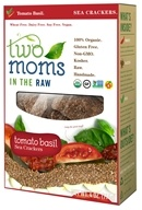 Two Moms in The Raw - Gluten Free Organic Sea Cracker Tomato Basil - 4 oz. by Two Moms in The Raw