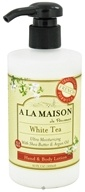 A La Maison - Traditional French Formula Hand & Body Lotion White Tea - 10 oz. by A La Maison