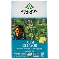 Organic India - True Wellness Tusli Cleanse Tea - 18 Tea Bags by Organic India