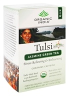Organic India - Tulsi Tea Jasmine Green Tea - 18 Tea Bags by Organic India