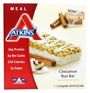 Image of Atkins Nutritionals Inc. - Advantage Meal Bar Cinnamon Bun - 5 Bars