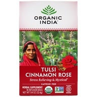 Organic India - Tulsi Tea Cinnamon Rose - 18 Tea Bags (801541507726)