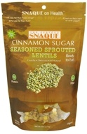 The Perfect Snaque - Seasoned Sprouted Lentils Cinnamon Sugar - 6 oz., from category: Health Foods