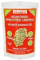 The Perfect Snaque - Seasoned Sprouted Lentils Honey Barbecue - 1 oz.