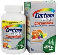 Centrum - Silver Chewable Multivitamin/Multimineral for Adults 50+ Citrus Berry - 60 Chewable Tablets