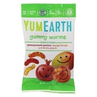 Image of Yummy Earth - Organic Gluten Free Sour Worms - 2.5 oz.