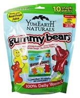 Yummy Earth - Natural Gluten Free Gummy Bears - 10 Pack(s) (810165015777)