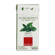 Radius - Floss Sachets with Natural Xylitol Mint - 20 Pack (085178001974)