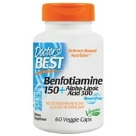 Doctor's Best - Best Benfotiamine/Alpha Lipoic Acid 150 mg/300 mg - 60 Vegetarian Capsules by Doctor's Best