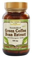Only Natural - Green Coffee Bean Extract with Svetol 400 mg. - 60 Vegetarian Capsules (727413002468)