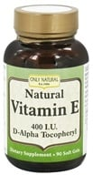 Only Natural - Natural Vitamin E 400 IU - 90 Softgels, from category: Vitamins & Minerals