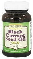 Image of Only Natural - Black Currant Seed Oil 300 mg. - 60 Softgels