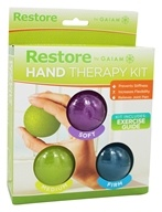 Gaiam - Restore Hand Therapy Kit - 3 Color-Coded Therapy Balls by Gaiam