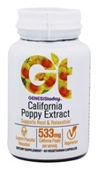 Genesis Today - Pure and Potent California Poppy Extract 400 mg. - 60 Vegetarian Capsules