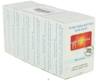 Out Of Africa - Pure Shea Butter Mini Bar Soap Unscented - 6 x 1.7 oz. Travel Size Bars (811966011098)