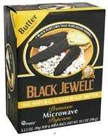 Black Jewell - All Natural Microwave Popcorn 3 Bags Butter Flavor - 10.5 oz. (046084230346)