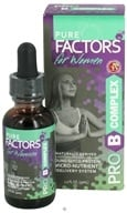 Image of Pure Solutions - Pure Factors for Women Pro B Complex with Deer Velvet Antler Extract - 1 oz.