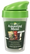 Amazing Grass - Amazing Meal Powder with Shaker Cup Variety Flavor - 4 x 24g Packets