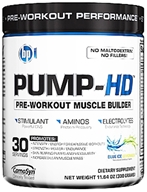 BPI Sports - Pump-HD Pre-Workout Muscle Builder Blue Ice Lemonade - 30 Servings - 11.64 oz. - $34.89