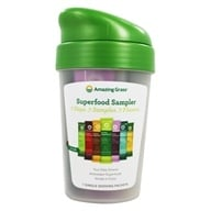 Amazing Grass - Green Superfood Variety Flavor Packets with Shaker Cup - 7 x 8g Packets