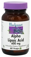 Bluebonnet Nutrition - Alpha Lipoic Acid 600 mg. - 60 Vegetarian Capsules - $31.16