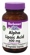 Bluebonnet Nutrition - Alpha Lipoic Acid 600 mg. - 30 Vegetarian Capsules