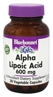 Bluebonnet Nutrition - Alpha Lipoic Acid 600 mg. - 30 Vegetarian Capsules - $16.76