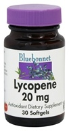 Bluebonnet Nutrition - Lycopene 20 mg. - 30 Softgels, from category: Nutritional Supplements