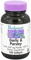 Image of Bluebonnet Nutrition - Garlic and Parsley - 100 Softgels