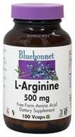 Bluebonnet Nutrition - L-Arginine 500 mg. - 100 Vegetarian Capsules, from category: Nutritional Supplements