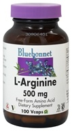 Bluebonnet Nutrition - L-Arginine 500 mg. - 100 Vegetarian Capsules by Bluebonnet Nutrition