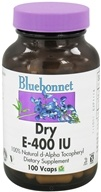 Bluebonnet Nutrition - Dry E 400 IU - 100 Vegetarian Capsules CLEARANCE PRICED by Bluebonnet Nutrition