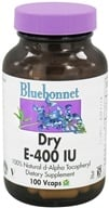 Bluebonnet Nutrition - Dry E 400 IU - 100 Vegetarian Capsules CLEARANCE PRICED, from category: Vitamins & Minerals