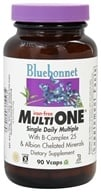 Bluebonnet Nutrition - Multi One Multivitamin & Multimineral Iron-Free - 90 Vegetarian Capsules (743715001480)