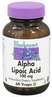 Image of Bluebonnet Nutrition - Alpha Lipoic Acid 100 mg. - 60 Vegetarian Capsules