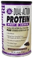 Bluebonnet Nutrition - Dual-Action Protein Whey + Casein Natural Chocolate Flavor - 1.05 lbs. by Bluebonnet Nutrition