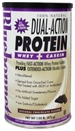Image of Bluebonnet Nutrition - Dual-Action Protein Whey + Casein Natural Chocolate Flavor - 1.05 lbs.