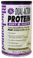 Bluebonnet Nutrition - Dual-Action Protein Whey + Casein Natural French Vanilla Flavor - 1.05 lbs.
