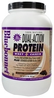 Bluebonnet Nutrition - Dual-Action Protein Whey + Casein Natural Chocolate Flavor - 2.1 lbs. by Bluebonnet Nutrition