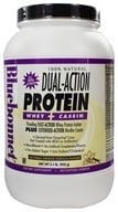 Bluebonnet Nutrition - Dual-Action Protein Whey + Casein Natural French Vanilla Flavor - 2.1 lbs. by Bluebonnet Nutrition