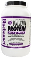 Bluebonnet Nutrition - Dual-Action Protein Whey + Casein Natural Original Flavor - 2.1 lbs. by Bluebonnet Nutrition
